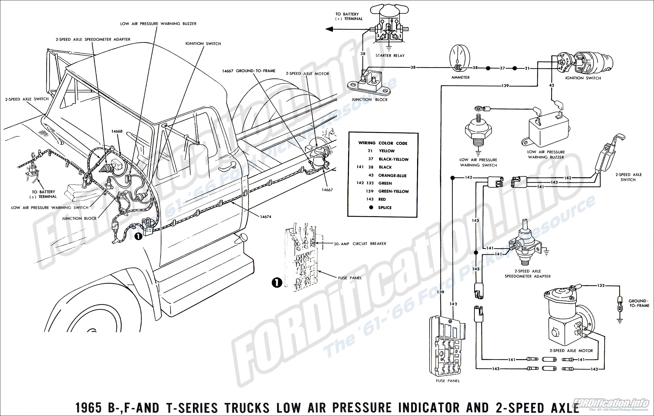 1965 Ford Truck Wiring Diagrams Fordification Info The