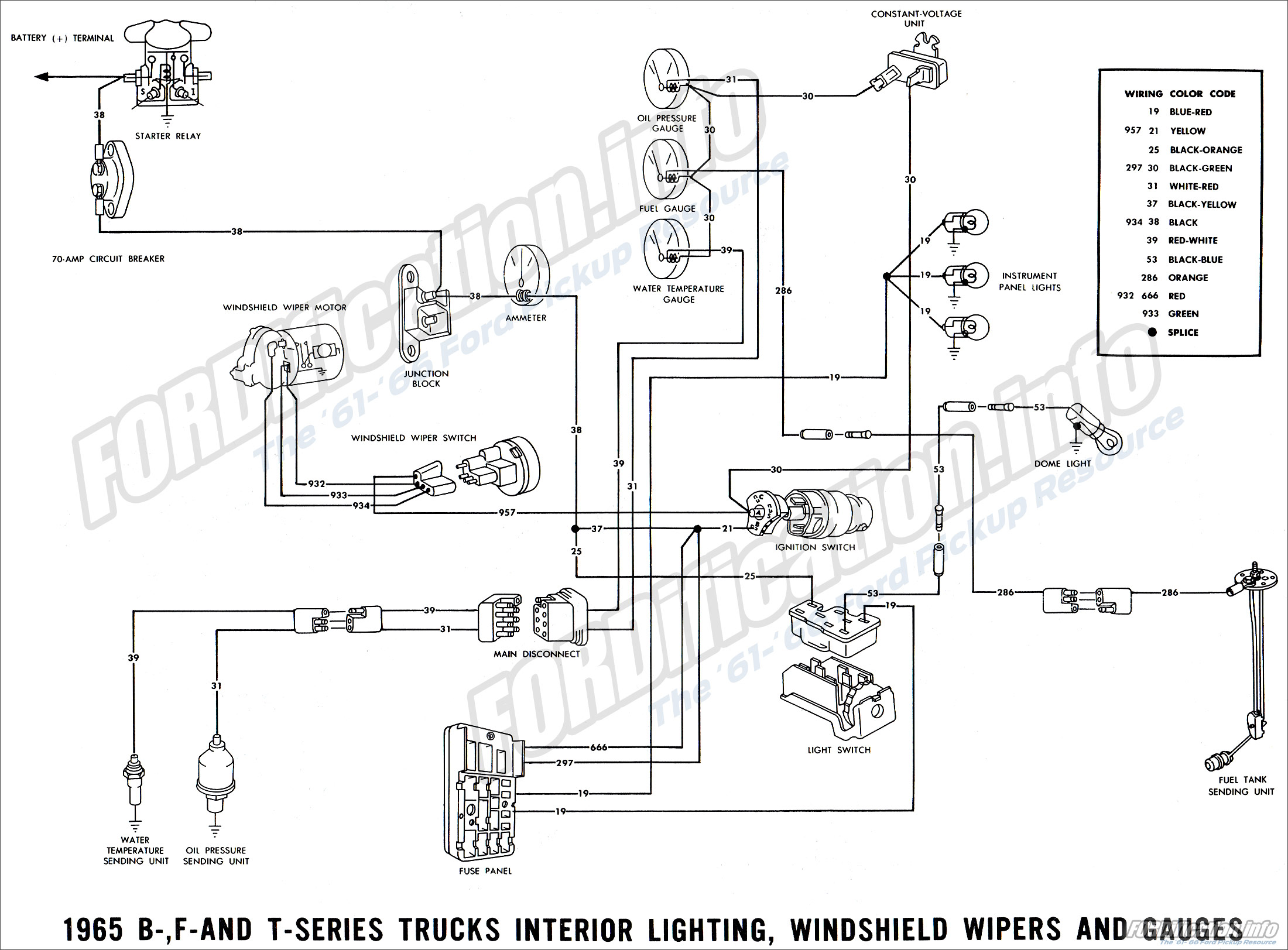 Ford Pickup Wiring Diagrams Another Blog About Diagram 1972 F250 1965 Truck Fordification Info The 1936 1939