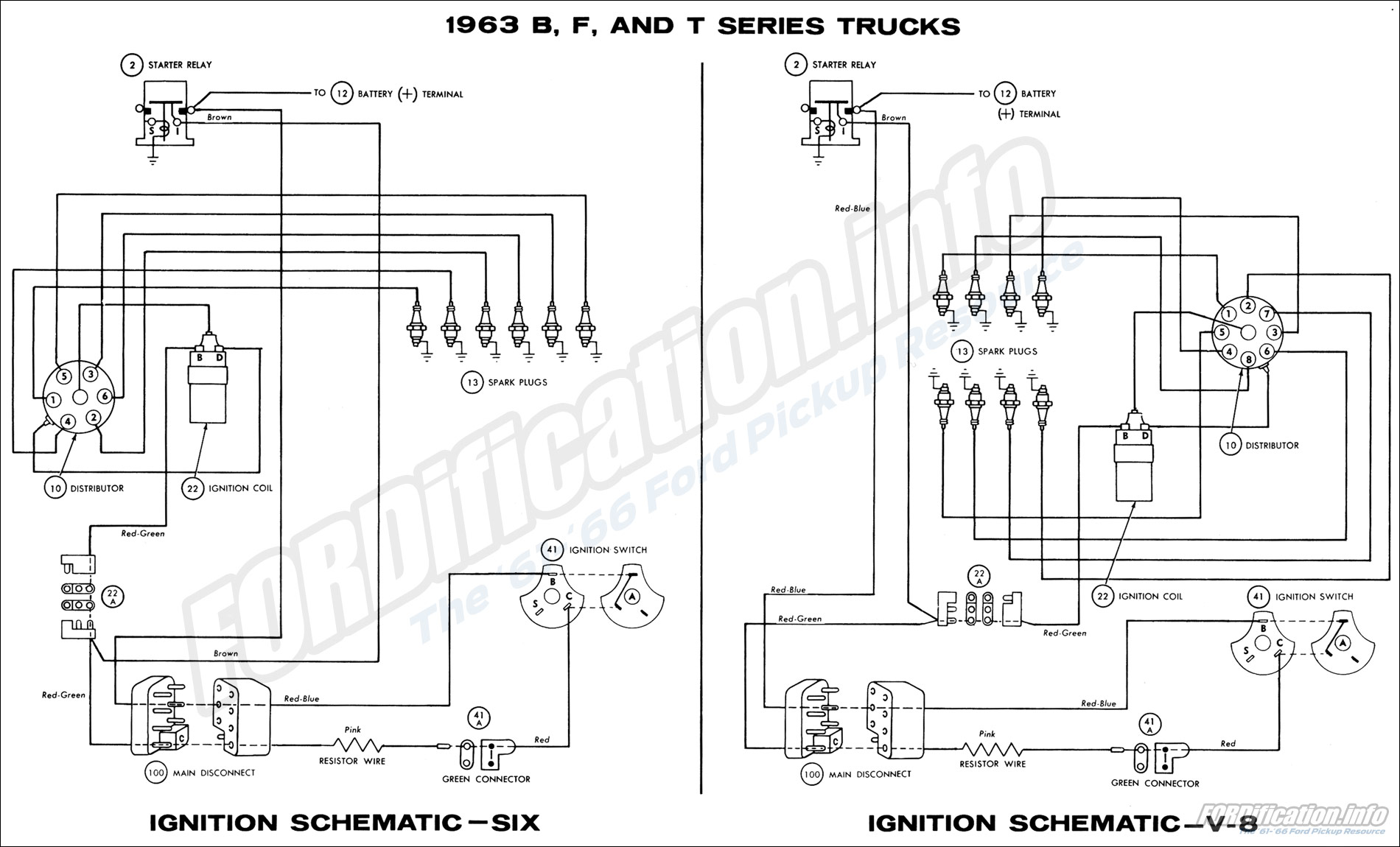 1963 ford truck wiring diagrams - fordification.info - the ... 1963 ford generator wiring diagram
