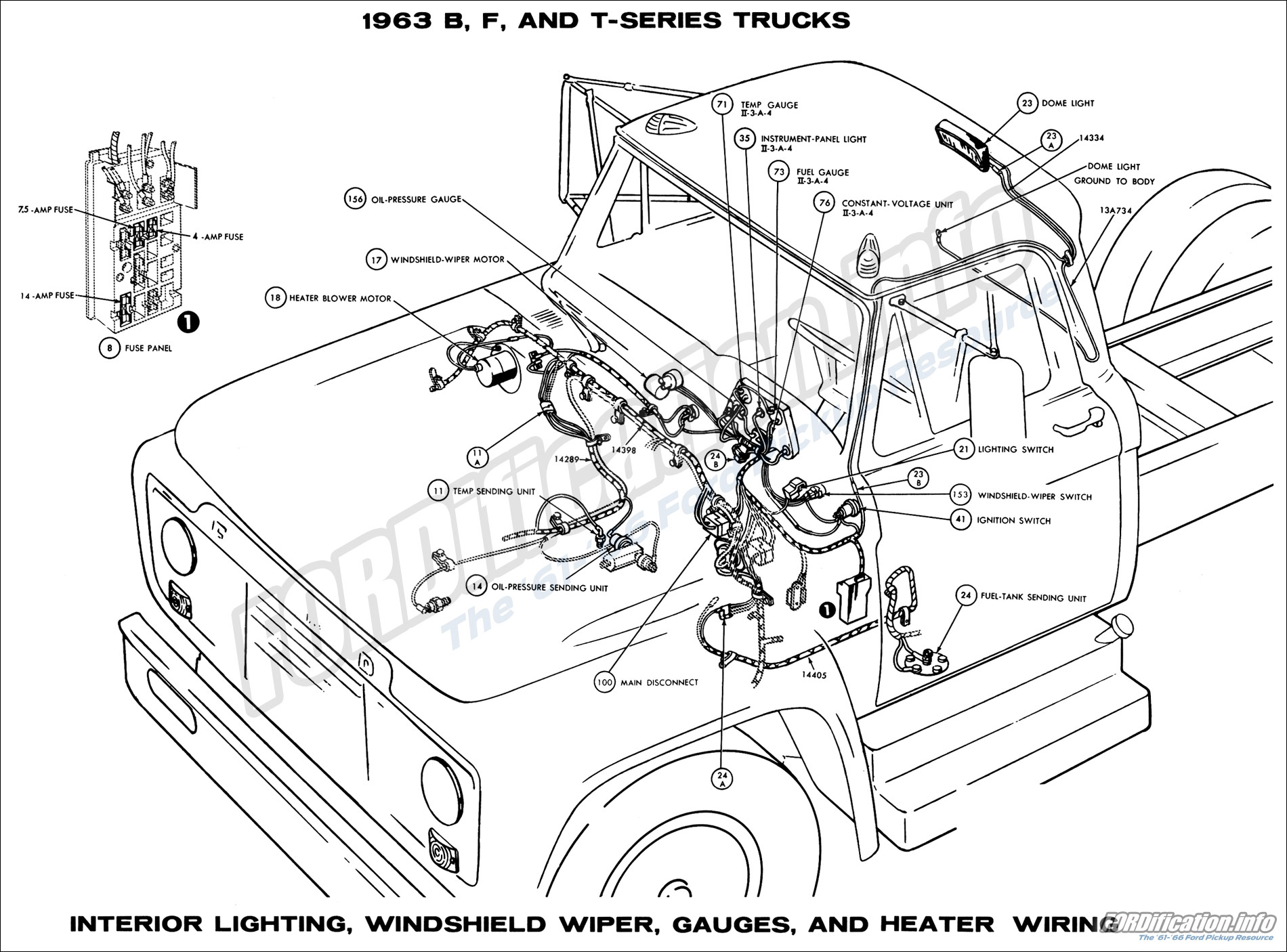 1963 ford truck wiring diagrams - fordification.info - the ... 1963 ford falcon wiring diagram 1963 ford f100 wiring