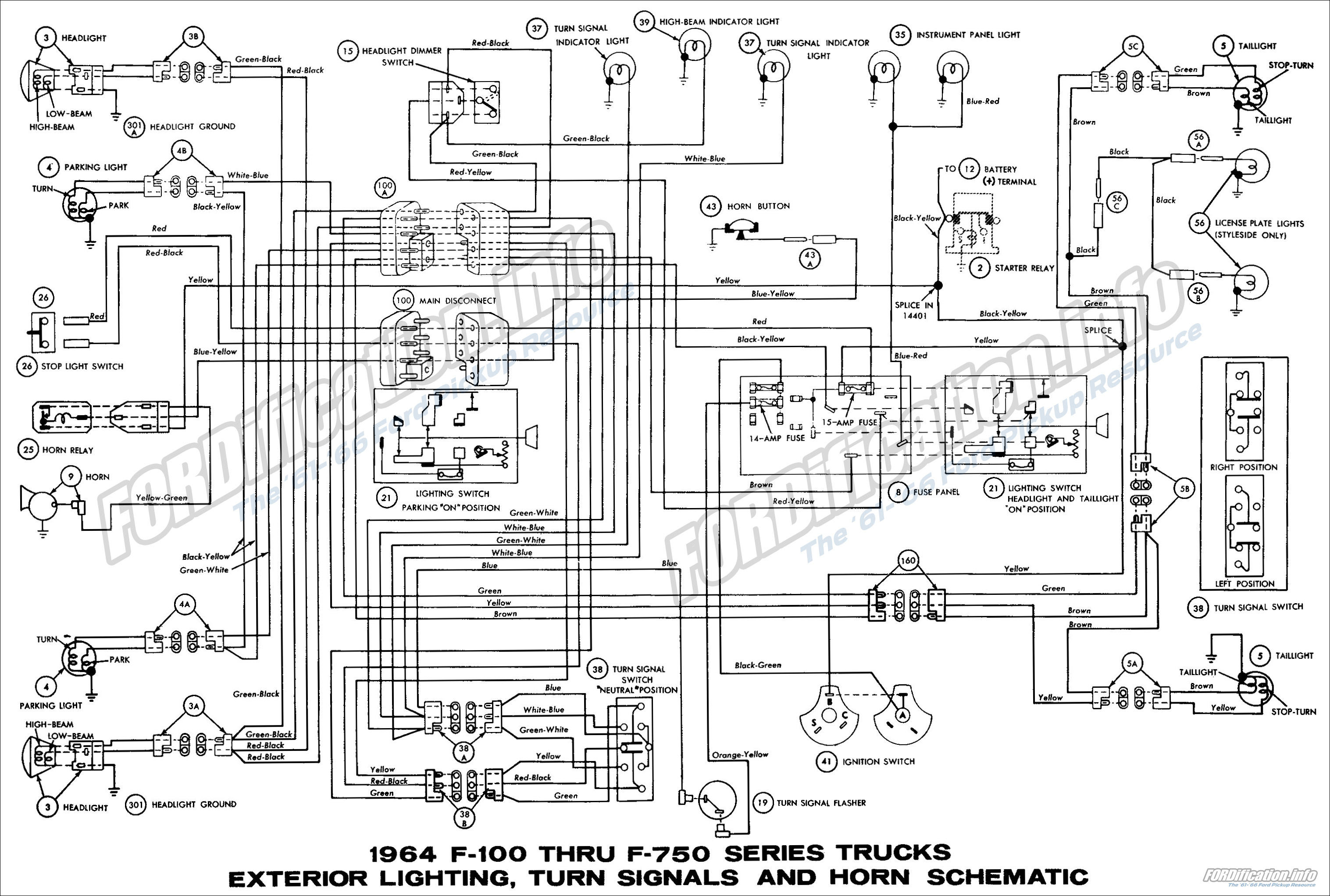 1964 Ford Truck    Wiring       Diagrams     FORDificationinfo  The