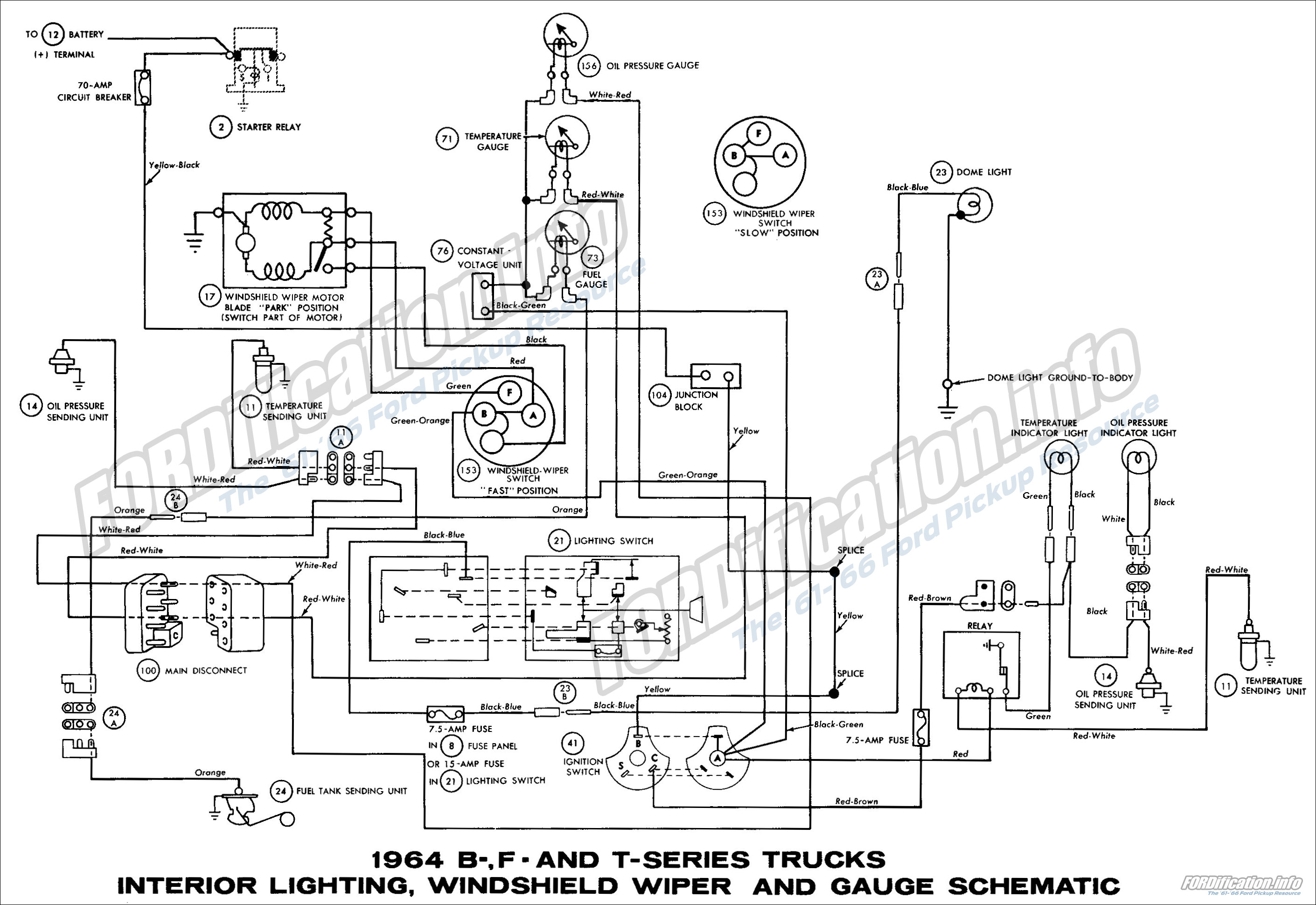 1964 ford truck wiring diagrams - fordification.info - the ... 64 ford f100 solenoid wiring