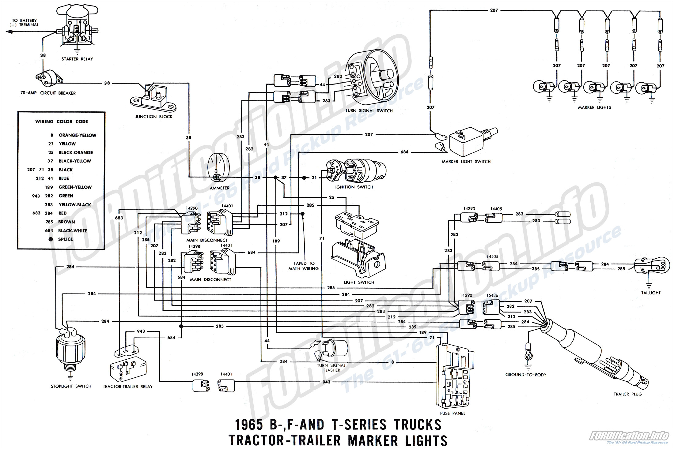 1965 Ford Truck Wiring Diagrams - FORDification.info - The ...