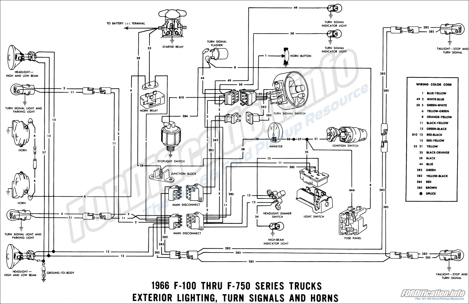 1966 Ford Truck    Wiring       Diagrams     FORDificationinfo  The  61 66 Ford Pickup Resource